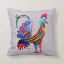 THP - 025 - Rooster Throw Pillow