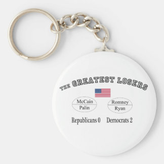 "Thr Biggest Losers:  Republicans 0 Democrats 2"" Keychain"