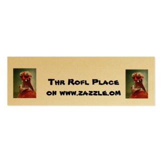 Thr Rofl Place on www.zazzle.om Mini Business Card