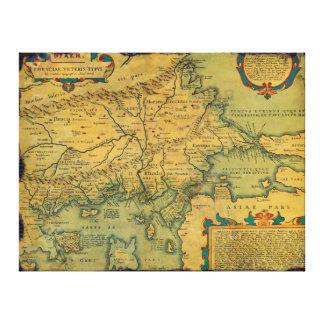 Thraciae Veteris Typvs Map by Abraham Ortelius Canvas Prints