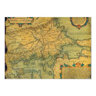 Thraciae Veteris Typvs Map by Abraham Ortelius Card