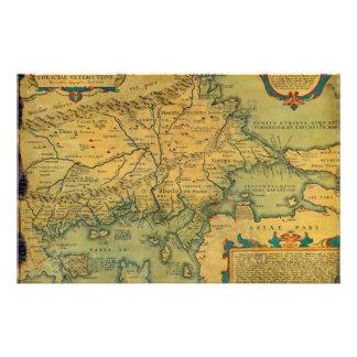 Thraciae Veteris Typvs Map by Abraham Ortelius Stationery