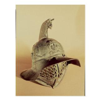 Thracian gladiator's helmet postcard