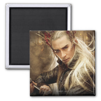 Thranduil Character Poster 1 2 Inch Square Magnet