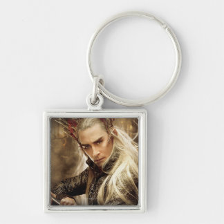 Thranduil Character Poster 1 Silver-Colored Square Keychain