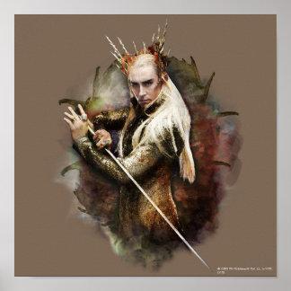 Thranduil con la espada impresiones