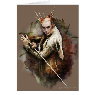 Thranduil con la espada tarjeta de felicitación
