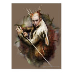 Thranduil con la espada tarjeta postal