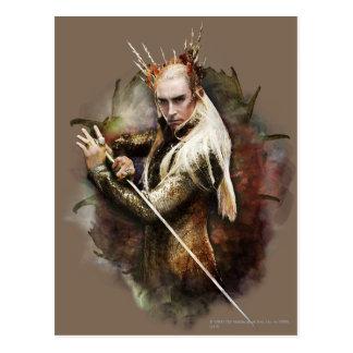Thranduil con la espada tarjetas postales