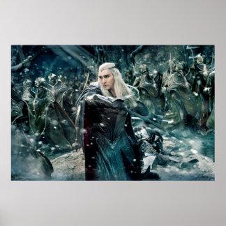 Thranduil en batalla póster