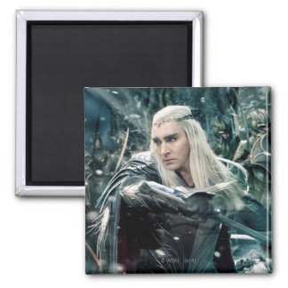 Thranduil In Battle 2 Inch Square Magnet
