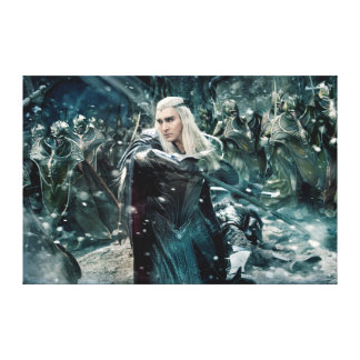 Thranduil In Battle Canvas Print