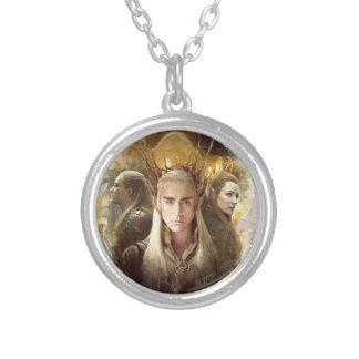 Thranduil, LEGOLAS GREENLEAF™, & TAURIEL™ Graphic Silver Plated Necklace