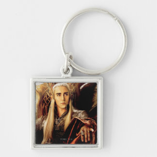 Thranduil Movie Poster Silver-Colored Square Keychain