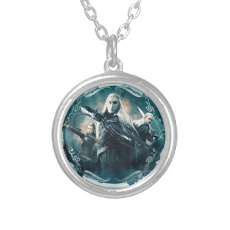 Thranduil, TAURIEL™, & LEGOLAS GREENLEAF™ Graphic Silver Plated Necklace