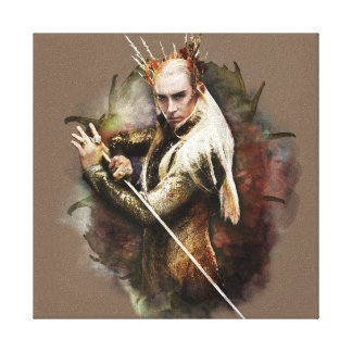 Thranduil With Sword Canvas Print