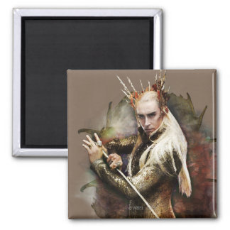 Thranduil With Sword 2 Inch Square Magnet