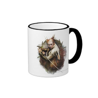 Thranduil With Sword Ringer Coffee Mug