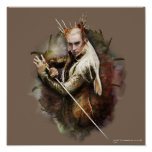 Thranduil With Sword Poster
