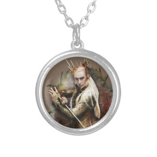 Thranduil With Sword Round Pendant Necklace