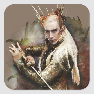 Thranduil With Sword Square Sticker