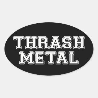 Thrash Metal Oval Sticker