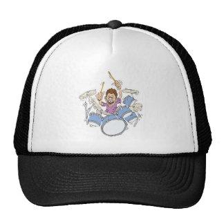 thrashing drummer trucker hat