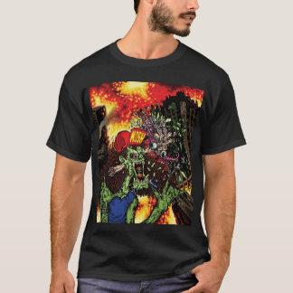 Thrashing Like A Maniac - cover art w/ back logo T-Shirt