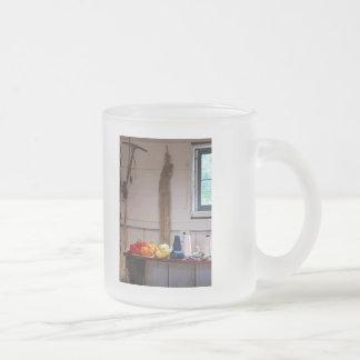 Thread and Yarn Frosted Glass Coffee Mug