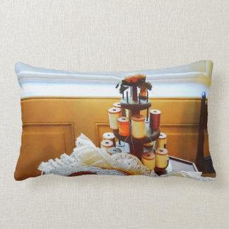 Thread Carousel and Lace Lumbar Pillow
