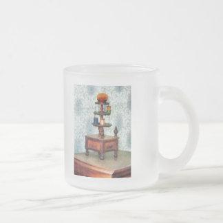 Thread Carousel 10 Oz Frosted Glass Coffee Mug