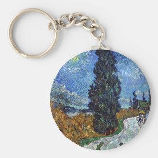 Thread cedar and road of star key chain