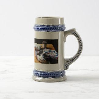 Thread, Pincushion and Cloth Beer Stein