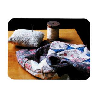 Thread, Pincushion and Cloth Magnet
