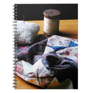 Thread, Pincushion and Cloth Notebook
