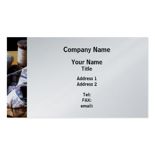 Thread, Pincushion and Cloth - Platinum Finish Double-Sided Standard Business Cards (Pack Of 100)