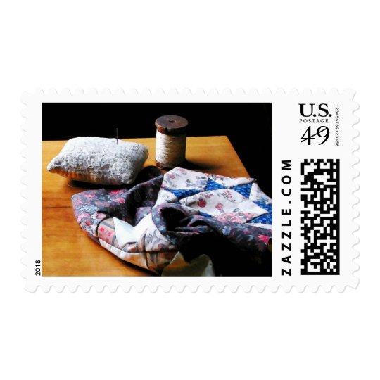 Thread, Pincushion and Cloth Postage