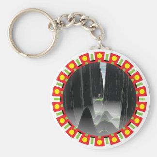 Thread The Needle Basic Round Button Keychain
