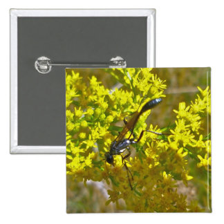 Thread-Waist Wasp on Goldenrod Items Button
