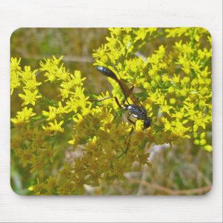 Thread-Waist Wasp on Goldenrod Mouse Pad