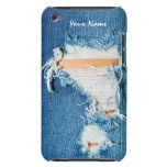 Threadbare - Distressed Blue Jean Denim Barely There iPod Covers