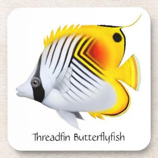 Threadfin Auriga Butterflyfish Cork Coaster
