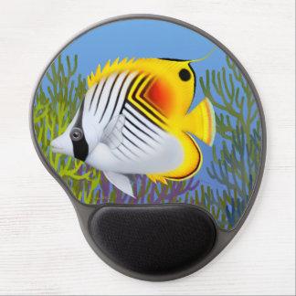 Threadfin Auriga Butterflyfish Gel Mousepad