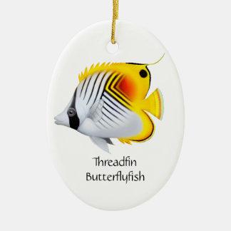 Threadfin Auriga Butterflyfish Ornament