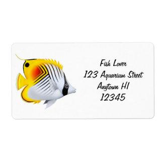 Threadfin Auriga Butterflyfish Packing Label