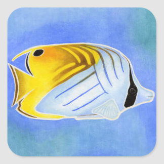 Threadfin Butterfly Fish Square Sticker