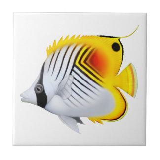Threadfin Butterflyfish Reef Fish Tile