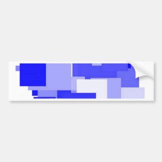 Threadless blue square bumper sticker
