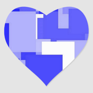 Threadless blue square heart sticker
