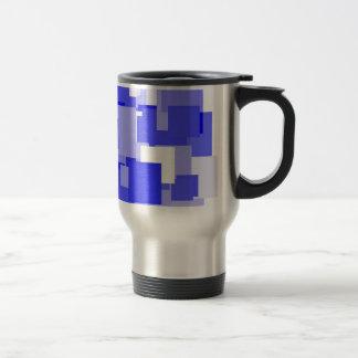 Threadless blue square travel mug